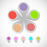 Colorful round pin pointer