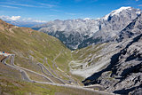 The Stelvio Pass at 2757 m is the highest paved mountain pass in