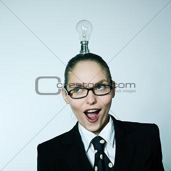 business woman idea creativity concept