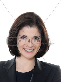 beautiful smiling caucasian business  woman portrait