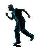 doctor surgeon man running urgency silhouette
