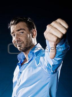 Man Portrait thumb down