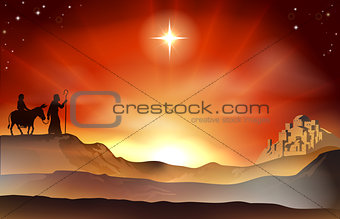 Nativity Christmas story illustration