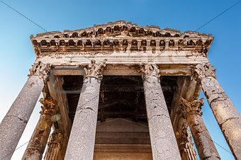 Ancient Roman Temple of Augustus in Pula, Istria, Croatia