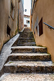 Narrow Street in the Medieval City of Rovinj, Istria, Croatia