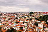 Aerial View on Lisbon Saint George Castle, Portugal