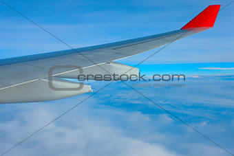 Air travel over the ocean of clouds