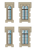 set of gothic windows