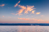 Beatiful Sunset on Makarska Riviera, Dalmatia, Croatia