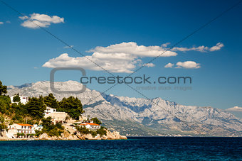 Beautiful Adriatic Beach and Lagoon with Blue Water near Split,