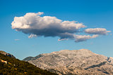 Clouds above Biokovo Mountain Range, Dalmatia, Croatia