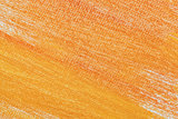 orange abstract on artist canvas