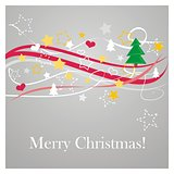 Christmas vector card or party invitation with Merry Christmas wishes