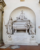 Dante's Tomb at Basilica of Santa Croce. Florence, Italy