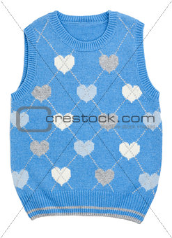 baby blue knitted vest