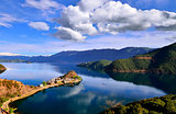 The Lige Peninsula of Lugu lake