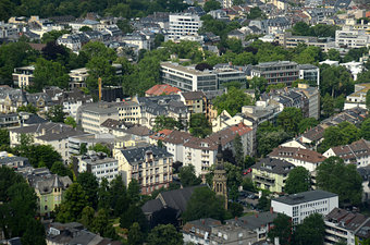 Aerial view of Frankfurt, Germany