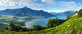 Lake Como summer panorama (Italy)