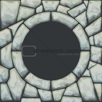 Frame on stone seamless pattern