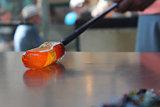 Rolling Molten Glass
