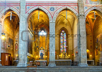 Chapels in apses of Basilica di Santa Croce. Florence, Italy