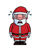 Santa Claus crying