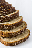 Fresh rye bread slices