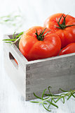 fresh beef tomatoes in box