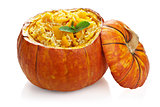 pumpkin risotto isolated
