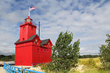 Big Red Lighthouse in Holland Michigan