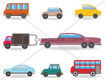 Cars. Vector set
