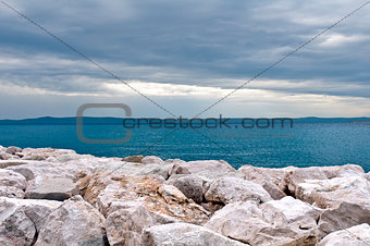 Breakwaters on the sea coast