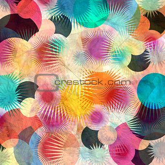 abstract circular pattern elements