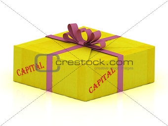 CAPITAL stamp on gift box