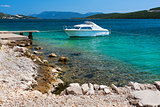 Picturesque scene of rocky adriatic beach