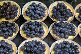 Lemon Custard Fruit Tarts with Blueberries