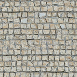 Seamless Texture of  Wall With Decorative Stone.