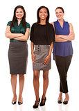 three business women