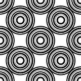 seamless pattern with circles, vector illustration