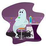 Ghost in the bar