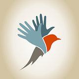 Bird a hand