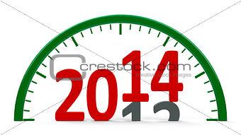 Clock dial 2014, half