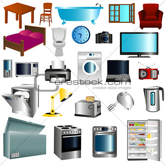 Appliances and furniture
