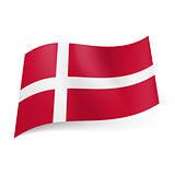 State flag of Denmark.