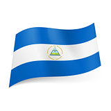 State flag of Nicaragua.