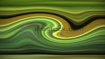 Abstract green wave background.