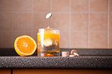 Vitamin C healthy lifestyle concept