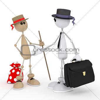 3d little men businessmen.