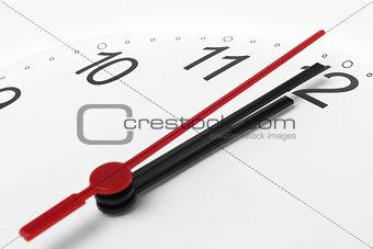 Clock countdown to midnight