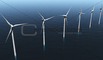 Wind generators on the sea